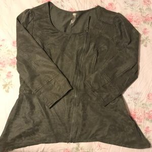 Cute Faux Suede leather Jacket Large